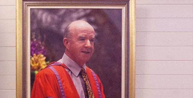 Honoring former Principal Peter Adam