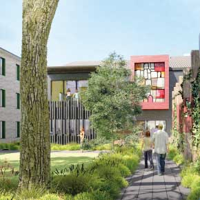 An artists impression of the proposed extension